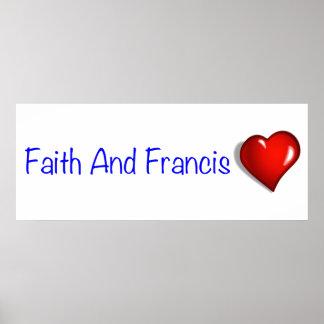 Amour de pape Francis Papa Francesco Catholic Poster