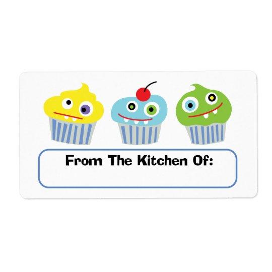 Amour de petit gâteau de la cuisine des étiquettes