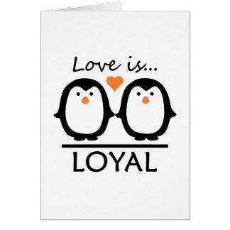 Amour de pingouin carte de vœux