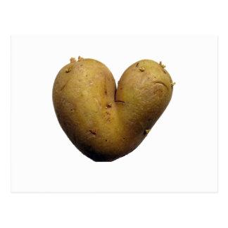 Amour de pomme de terre carte postale