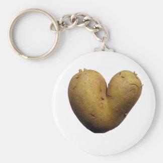 Amour de pomme de terre porte-clé rond