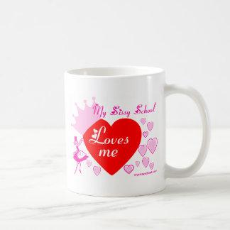 Amour de poule mouillée mug blanc
