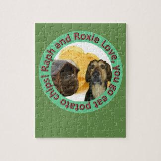 Amour de Raph et de Roxie vous allez mangez le Puzzle