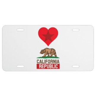 Amour de République de la Californie des véhicules