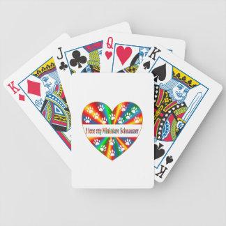 Amour de Schnauzer miniature Jeux De Cartes