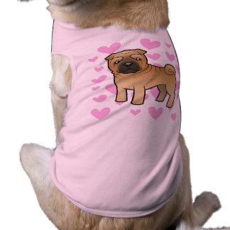 Amour de Shar Pei T-shirt Pour Chien