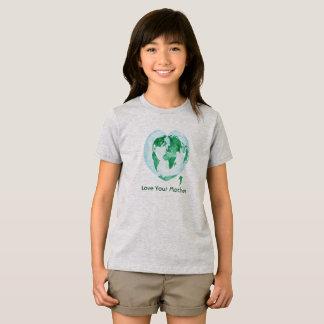Amour de T-shirt de filles votre Terre