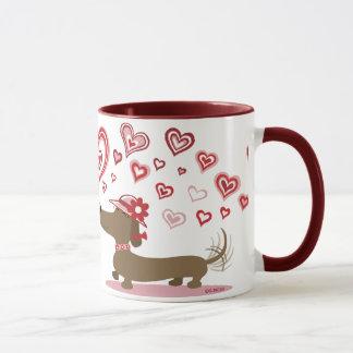 AMOUR de teckels de Valentine VOUS ! tasse