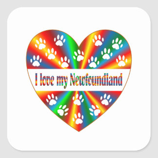 Amour de Terre-Neuve Sticker Carré