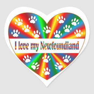 Amour de Terre-Neuve Sticker Cœur