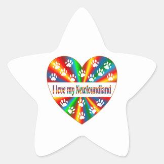 Amour de Terre-Neuve Sticker Étoile
