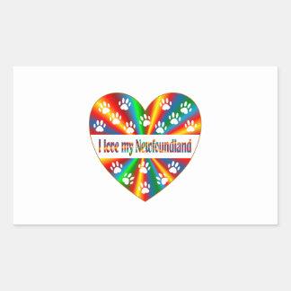 Amour de Terre-Neuve Sticker Rectangulaire