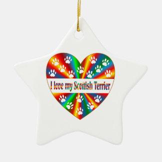 Amour de Terrier d'écossais Ornement Étoile En Céramique