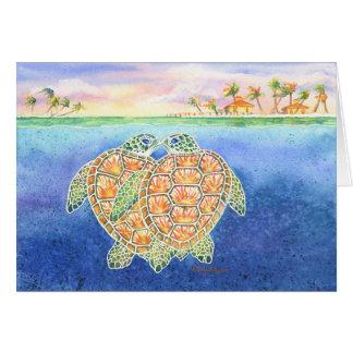 Amour de tortue carte de vœux