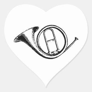 Amour de trompette et de musique sticker cœur