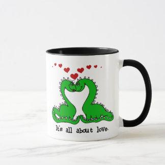 Amour de Valentine de dinosaure Mugs