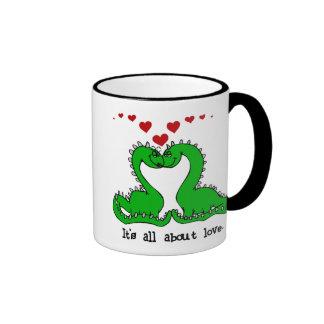 Amour de Valentine de dinosaure Mug À Café