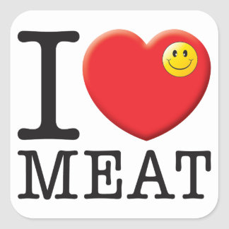 Amour de viande sticker carré