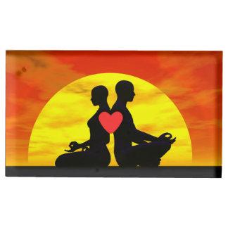Amour de yoga - 3D rendent Porte-photo