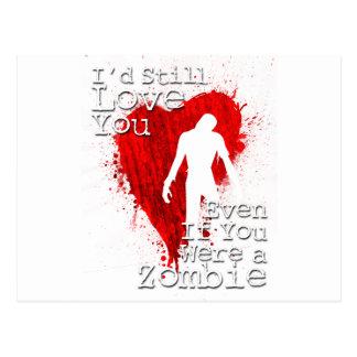 Amour de zombi carte postale