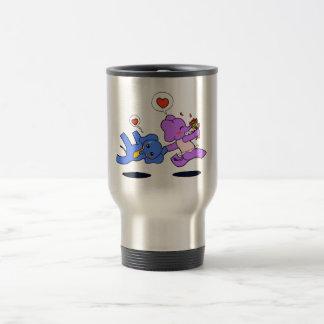 Amour d'éléphant mug de voyage en acier inoxydable