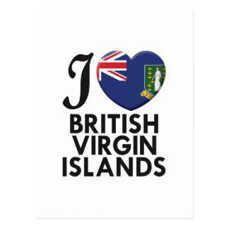 Amour des Îles Vierges britanniques Cartes Postales
