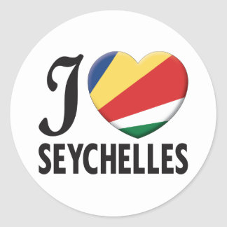 Amour des Seychelles Sticker Rond