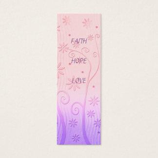 Amour d'espoir de foi - signet mini carte de visite