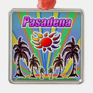 Amour d'été de Pasadena Ornement Carré Argenté