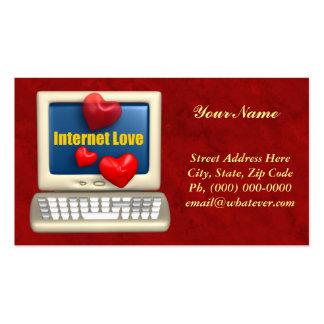 Amour d'Internet Cartes De Visite Personnelles