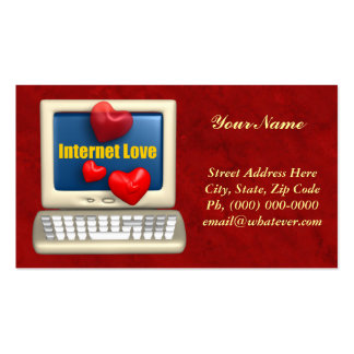 Amour d'Internet Carte De Visite Standard