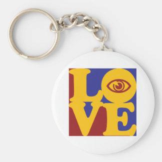 Amour d'optométrie porte-clé rond