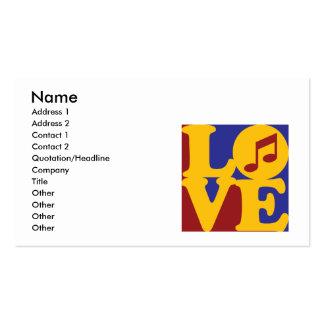 Amour d'orchestre cartes de visite personnelles