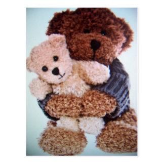 amour d'ours de nounours carte postale