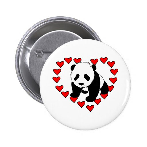 Amour d'ours panda badge