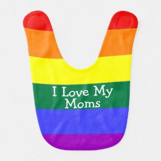 Amour du bébé I de fierté mes mamans Bavoir