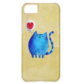 Amour du chat bleu de Kitty Coque iPhone 5C