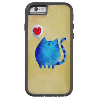 Amour du chat bleu de Kitty Coque iPhone 6 Tough Xtreme