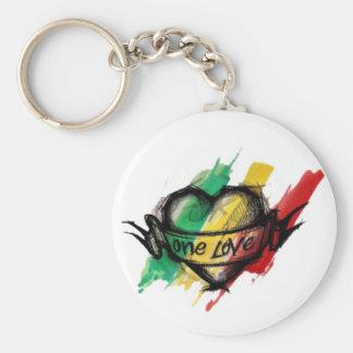 Amour du reggae un de Cori Reith Rasta Porte-clé Rond