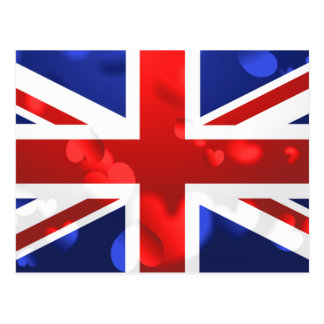 Amour d'Union Jack Cartes Postales