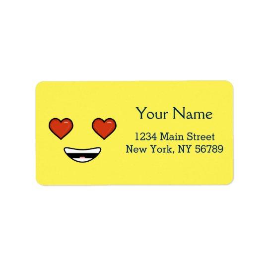 Amour Emoji Étiquettes D'adresse
