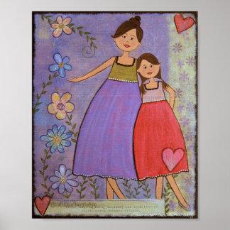 Amour et amitié - la fille de la mère 8x10 badine posters
