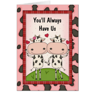 Amour et appui - vaches cartes