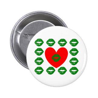 Amour et baisers irlandais badge