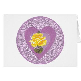 Amour et carte de voeux de roses