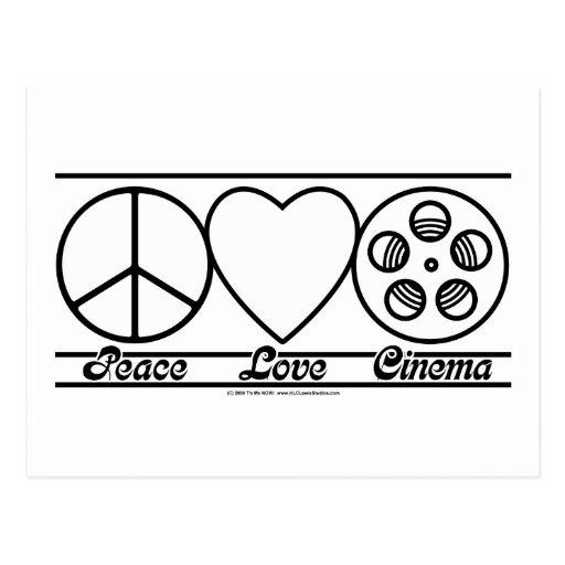 Amour et cinéma de paix carte postale