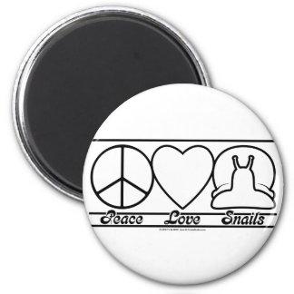 Amour et escargots de paix magnets pour réfrigérateur