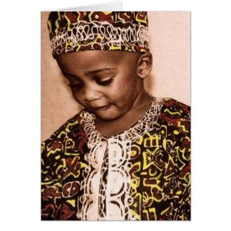 Amour et grâce de Kwanzaa Carte De Vœux