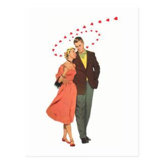 Amour et illustration vintage Romance Carte Postale