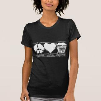 Amour et maïs éclaté de paix aussi t-shirt